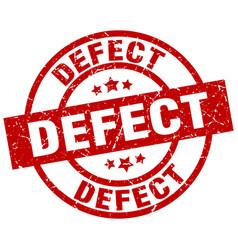 Defect round red grunge stamp vector