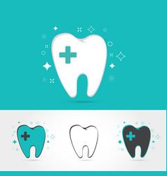 dental logos templates vector image