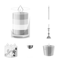 Design of paraffin and fire icon vector