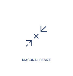 Diagonal resize concept 2 colored icon simple vector