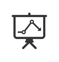 Downward analysis icon vector