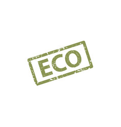 eco stamp texture rubber cliche imprint web or vector image