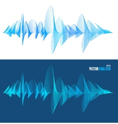 Equalizer colorful musical bar set vector