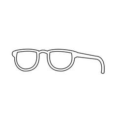 fashion glasses frame accessory icon vector image