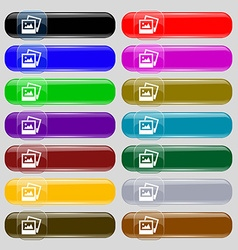 File JPG icon sign Set from fourteen multi-colored vector