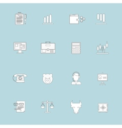 Finance exchange icons flat line vector image