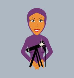 Flat icon on theme arabic business muslim vector