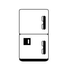 Fridge household electric appliance icon image vector
