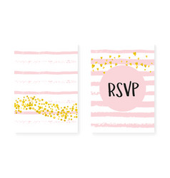 Gold glitter confetti with dots and sequins vector