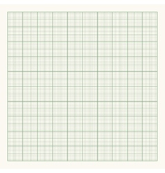 Green graph paper on light background vector image