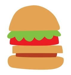 Hamburger and sandwich fast food vector