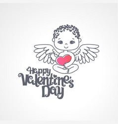 Happy valentine s day greeting card template vector