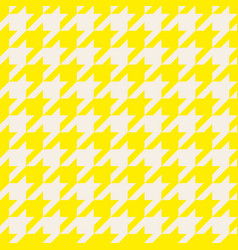 houndstooth seamless pastel yellow pattern vector image