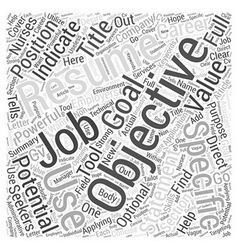 How to Use a Resume Objective to Help Your Job vector
