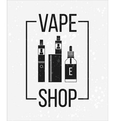 icons of vape and accessories vector image