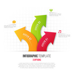 Infographics with 3 option branching circular vector