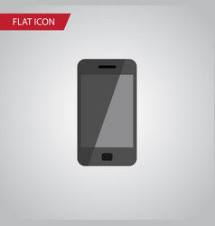 isolated smartphone flat icon telephone vector image