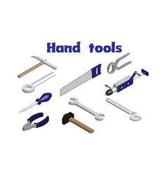 Isometric image hand tools vector