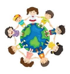 kids around world vector image