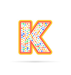 letter k with dots logo design vector image