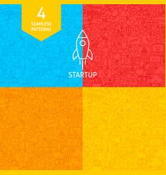 line startup patterns vector image