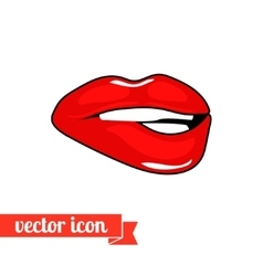 Lips icon 6 vector image