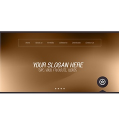 Minimal Website Home Page Design with Slider vector image