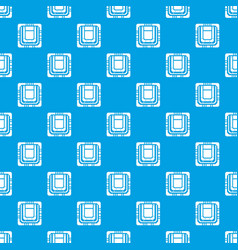 modern microchip pattern seamless blue vector image