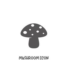 mushroom icon simple flat style vector image