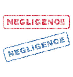 Negligence textile stamps vector