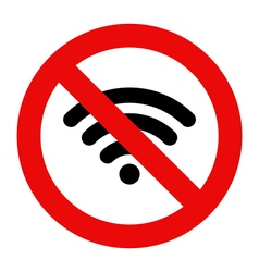 No Wifi sign vector