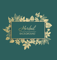 perfect background with grass and gold flowers vector image