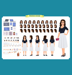 pretty female office employee character vector image