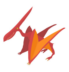 Pterodactyl icon cartoon style vector