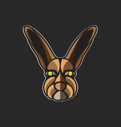 rabbit logo design template rabbit head icon vector image