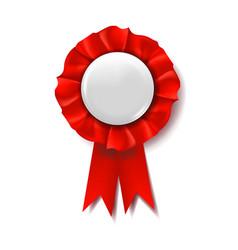 Red award ribbon winner badge ceremony vector