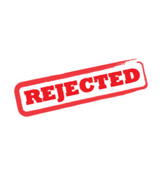 Rejected stamp sign vector