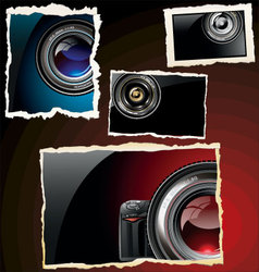Retro photo frames vector