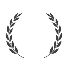 round laurel wreath icon isolated isolated vector image
