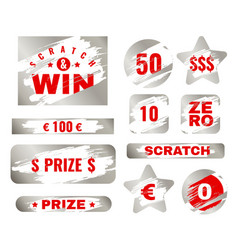 scratch card scratches with brush effect suitable vector image