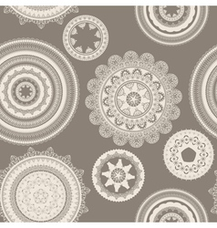 Seamless pattern lacy napkins vector