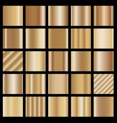 set bronze gradients vector image