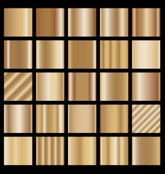Set of bronze gradients vector