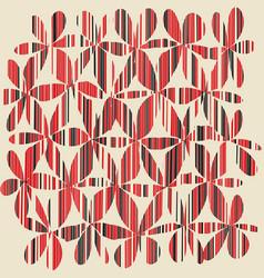 set of grunge flower shapes vector image