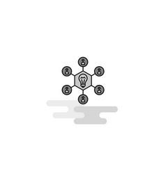 share idea web icon flat line filled gray icon vector image