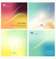 smooth and blurry backgrounds set pastel color vector image