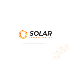 solar panel logo in abstract shape of the sun vector image