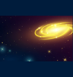 spiral galaxy in space of milky way vector image