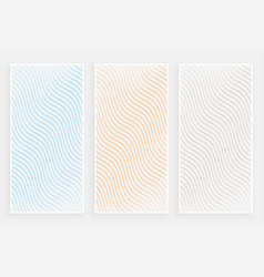 Subtle minimalist curvy flowing lines pattern vector
