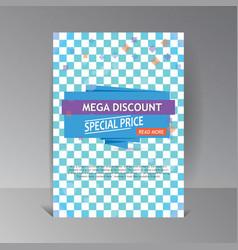 super sale banner mega discount background vector image